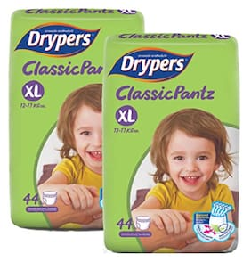 Drypers Classicpantz Extra Large Sized Pant Style Diaper,Combo Pack of 2,44 each (Total 88 Counts)