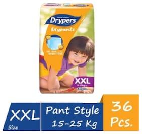 Drypers Drypantz Pant Style Premium Diaper,XXL Size,36 Counts