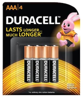 Duracell Alkaline Battery Aaa 4 pcs