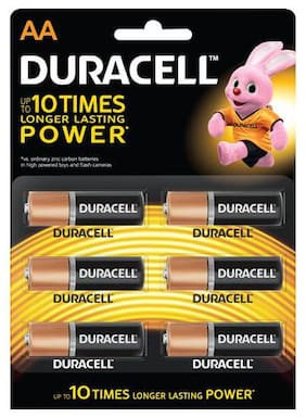 Duracell Alkaline Battery - Aa 6 pcs