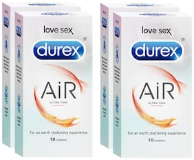 Durex Air Condoms 10pcs (Pack of 4)
