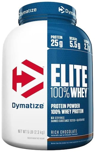 Dymatize Elite 100% Whey Protein 5 lbs Rich Chocolate 2.3kg