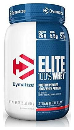 Dymatize Elite 100% Whey Protein 0.907 kg (2 lb)- Strawberry Blast