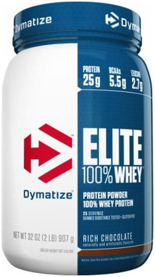 Dymatize Elite 100% Whey Protein 0.907 kg (2 lb)- Rich Chocolate