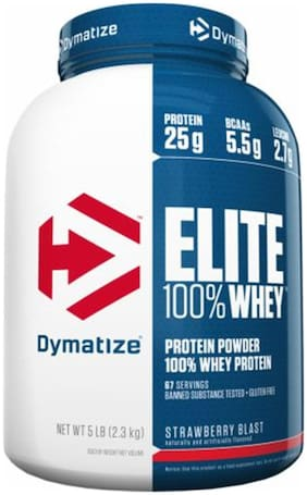 Dymatize Elite Whey 2.26 kg (5 lb) Strawberry Blast
