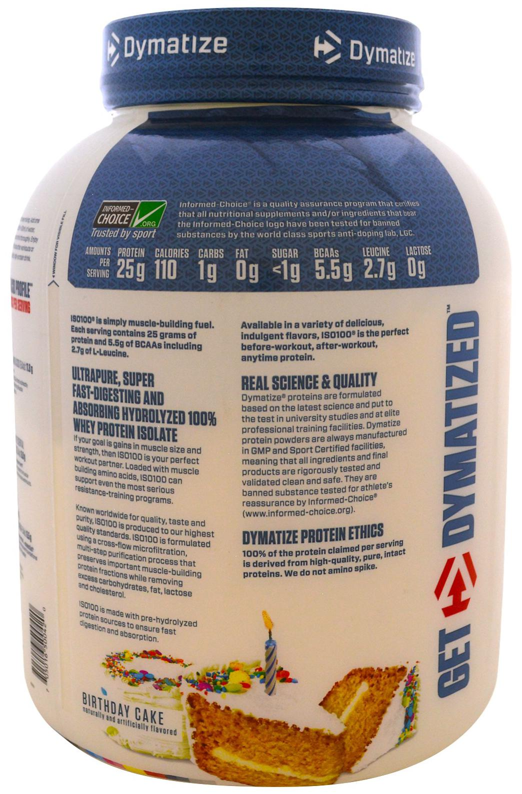 Buy Dymatize ISO 100 Whey Protein Isolate 5 Lbs Birthday Cake Online At Low Prices In India