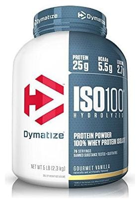 Dymatize ISO 100% Whey Protein Isolate 2.26 kg (5 lb) Gourmet Vanilla