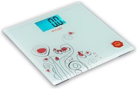 Eagle EEP-1002A Electronic Slim Design Personal Body Weighing Scale/ Weight Machine/ Digital Weighing Scale,LCD Display,Batteries Included,Off White Body,180 kg