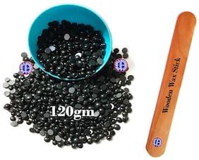 Ear Lobe & Accessories Black Coffee No Strip Flavor Depilatory Wax Pearl Hair Removal Hot Wax Beans,120g With 1 Wodden Saptula