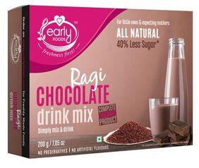 Early Foods Organic - Ragi & Chocolate Health Drink Mix, For Kids 200 gm