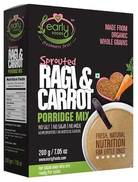 Early Foods Organic - Sprouted Ragi & Carrot Porridge Mix 200 gm