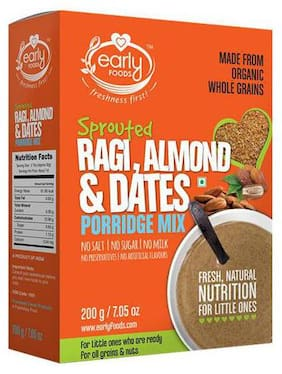 Early Foods Organic - Sprouted Ragi, Almond & Date Porridge Mix 200 g