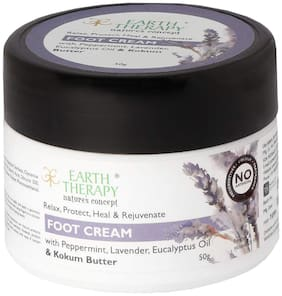 EARTH THERAPY Foot Cream For Cracked Heels, Dry Skin, Feet Repair, Knee Brightening Whitening Hydration & ULTRA HEALING For Women & Men, 50g
