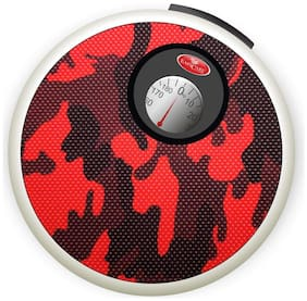 EASYCARE Round Manual Weighing Scale Monitor with Handle to Carry (Capacity 150 ) kg