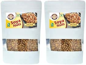 Eat Soya Soya Nuts Salted Roasted Soyabean Namkeen Snacks 200g (Pack Of 2, 400g)