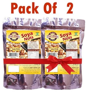 Eat Soya LLP Roasted Soya Nuts Salted 200 gm Combo (Pack of 2)