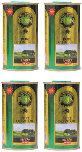 EKiN Pure Olive Oil 100ml Tin (Pack Of 4)