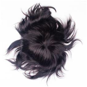 Elegant Hairs Straight Human Hair Men's Toupee for men size 9*6 (Pack of 1)