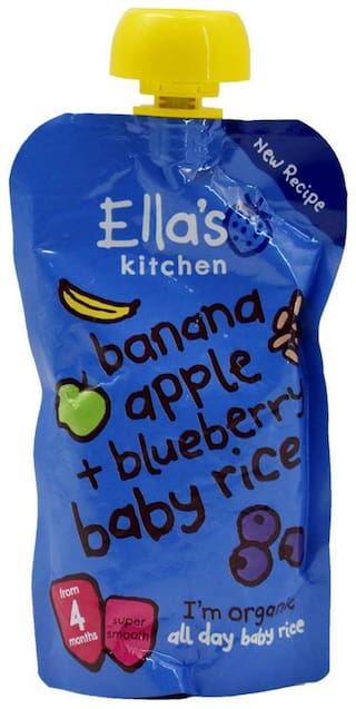Ellas Kitchen Banana Apple + Blueberries & Baby Rice - 120g
