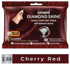 Emami Creme Hair Colour - Cherry Red  Diamond Shine 20 g + 20 ml