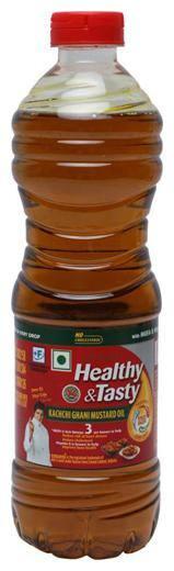 Emami Healthy & Tasty - Kachchi Ghani Mustard Oil 1 L