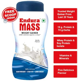 Endura Mass Weight Gainer/Mass Gainer 1 kg. Vanilla