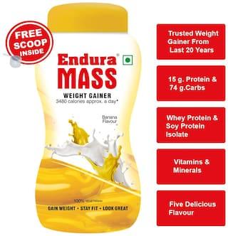 Endura Mass Weight Gainer/Mass Gainer 1 kg. Banana