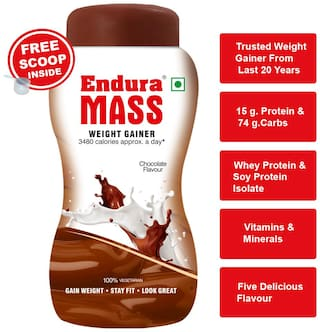 Endura Mass Weight Gainer/Mass Gainer 1 kg. Chocolate