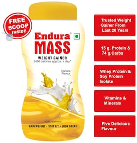 Endura Mass Weight Gainer/Mass Gainer 3 kg. Banana