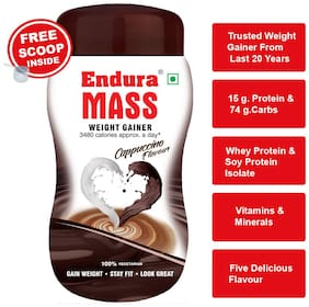 Endura Mass Weight Gainer/Mass Gainer 500 g Cappuccino