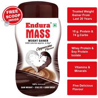 Endura Mass Weight Gainer/Mass Gainer 500 g Cappuccino
