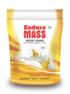 Endura Mass Weight Gainer/Mass Gainer 400 g Banana