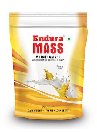 Endura Mass Weight Gainer/Mass Gainer 400 g Banana