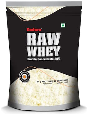 Endura Raw Whey Concentrate 80% Whey Protein 907g Unflavoured