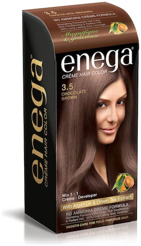 Enega Cream Hair Color with Argan Oil & Green Tea Extract No Ammonia Cream Formula Smooth Care For Your Precious Hair Pack of 1