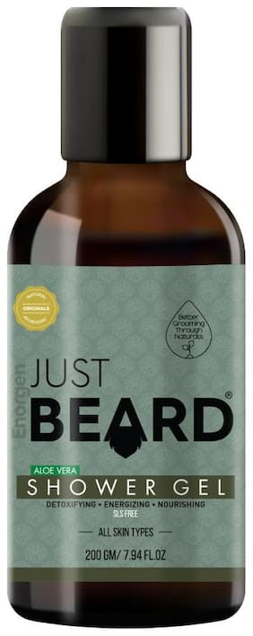 Just Beard Natural Aloe Vera Shower Gel with Skin Conditioners For Men  200g