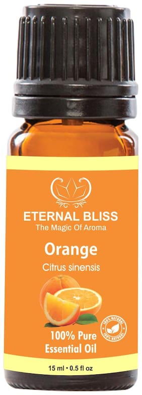 Eternal Bliss Orange Essential Oil - Pure Natural & Undiluted For Skin Care & Hair Care(15 ml)