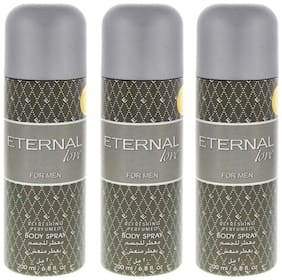 Eternal Love Body Spray  Men  200ml (Pack of 3)