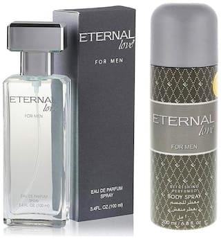 Eternal Love Body Spray  Men  200ml + Eau De Perfume Men  100ml (Pack of 2)