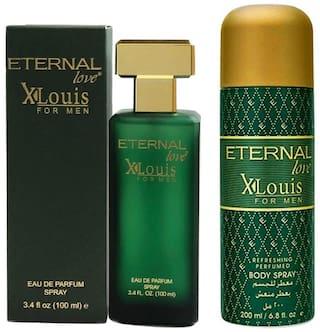 Eternal Love Body Spray;Xlouis Men;200ml + Eternal Love Eau De Parfum;Xlouis Men;100ml (Pack of 2)