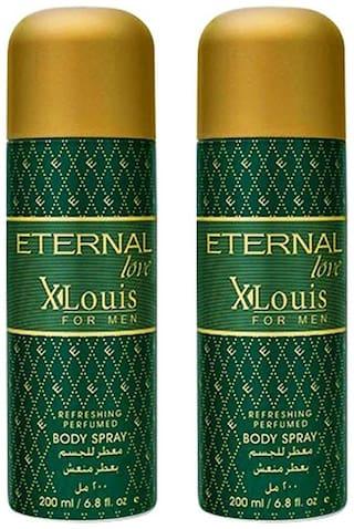Eternal Love Body Spray  Xlouis Men  200ml- (Pack of 2)