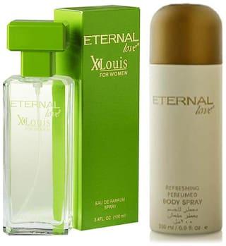 Eternal Love Eau De Parfum Xlouis Women;100ml + Eternal Love Body Spray Women;200ml (Pack of 2)