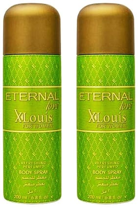 Eternal Love Body Spray  Xlouis Women  200ml- (Pack of 2)