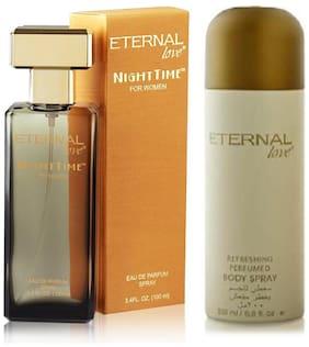 Eternal Love Body Spray for Women  200ml + Love Eau De Parfum Women  100ml (Pack of 2)