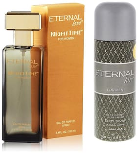 Eternal Love Eau De Parfum Women  100ml + Love Body Spray Men  200ml (Pack of 2)
