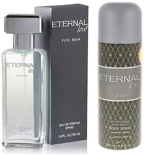 Eternal Love Body Spray  Men  200ml + Love Eau De Parfum Men  100ml (Pack of 2)