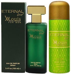 Eternal Love Eau De Parfum Xlouis Men;100ml + Eternal Love Body Spray Xlouis Women;200ml (Pack of 2)