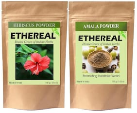 Ethereal Hibiscus and Amla Powder (100 g each) (Pack of 2)