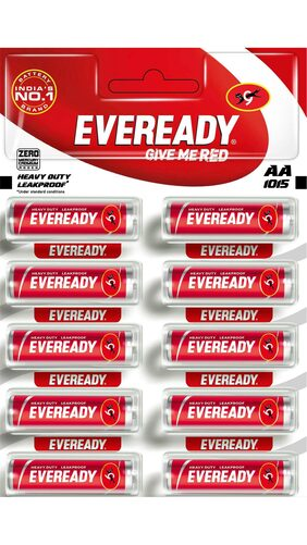 Eveready 1015 AA Czn Pencil Batteries Pack of 120 Pc