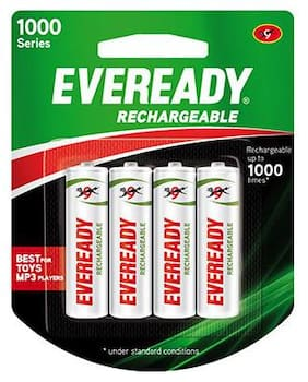 Eveready Rechargeable AA Battery BP4 700 Nimh 4 pcs